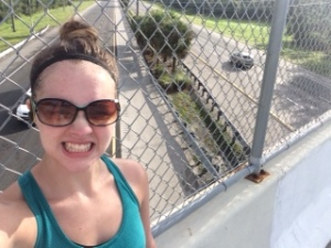 For some reason standing 20 feet above cars going 70 mph makes me need to take a selfie.