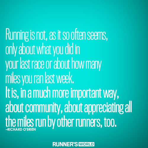 Running is about community. Why we run. CasiRuns